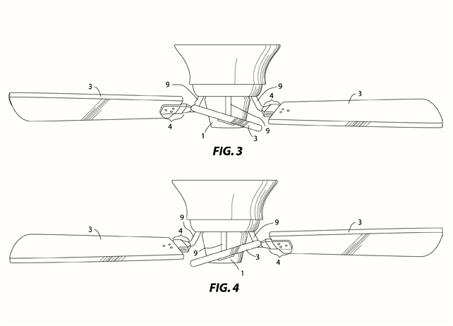 Ceiling Fan Prototype and Patent Drawings